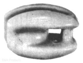 White glazed egg insulator