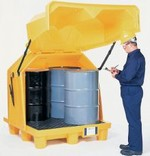 Secure Secondary Containment Inside or Outside - 4 Drum With Drain