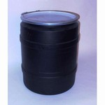 20 Gallon Black Plastic Drum With Natural Plain Cover