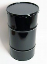 16-Gallon Open-Head Steel Drum - Black - Rust Inhibitor Interior
