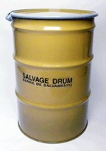 55 Gallon Steel Salvage Drums - Lined