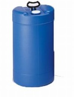 15 Gallon Closed-Head Plastic Drum - Blue With Swing Handle