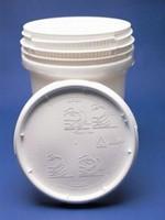 1 Gallon Screw-Top Plastic Pail