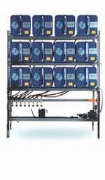 IFH Oil Storage and Dispensing Systems With Twelve - 65 Gallon Containers - Outboard Console