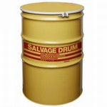 110 Gallon Steel Salvage Drums - Lined