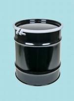 20 Gallon Open-Head UN-Rated Steel Drum - Black - Epoxy Phenolic Interior