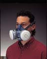 Respirator w/cartridges (half face mask)