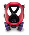 Respirator w/cartridges (full face mask)