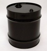 20 Gallon Tight-Head UN-Rated Steel Drum - Black - Rust Inhibitor Interior