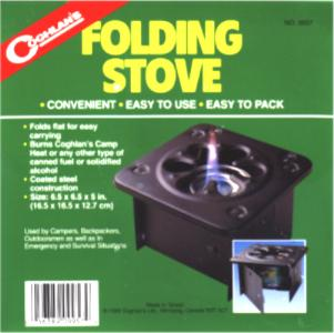 Coghlan Sterno Fuel Folding Stove