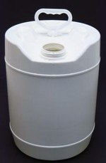 5 Gallon Round Closed-Head Plastic Pail - Natural