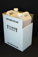 2 1/2 Gallon F-Style Polyethylene Bottle with Shipper Carton - UN Rated