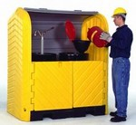 Ultratech Hard Top Spill Containment Pallets - 2 Drum - No drain
