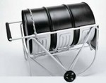 Platecoil Drum Cradle With Wheels - Painted Carbon Steel - 55 Gallon