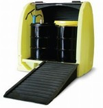 Enpac Roll Top 4 Drum Outdoor Spill Containment Pallet - No drain