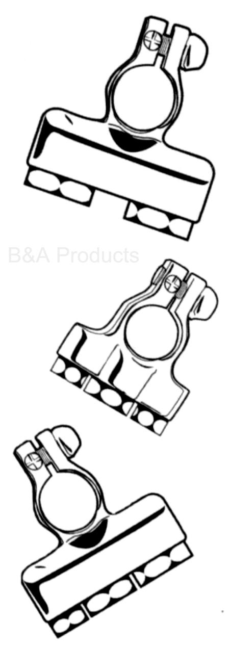 Battery Terminals with Covers-Negative post, 2-8 ga, 1-4 ga