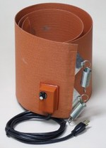 Silicone Rubber Drum Heater - 9.5 Inch Wide - 55 Gallon