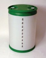 55 Gallon Closed-Head Plastic Drum With Graduation Marks