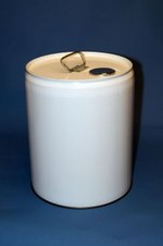 5 Gallon Closed-Head Steel Pail - White
