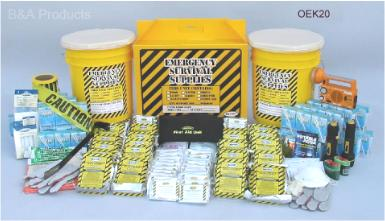 Deluxe Office Emergency Kit - 20 Person