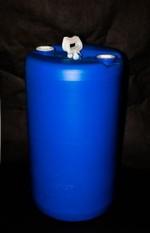 20 Gallon Closed-Head Blue Plastic Drum