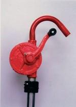 Economical Rotary Drum Pump - Curved Spout - 48 Inch PVC Hose