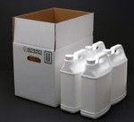 1 Gallon F-Style White Polyethylene Bottles with Shipper Box - UN Rated