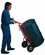 Combination Drum/Hand Truck - Moldon Rubber Wheels