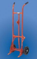 Self-Standing Drum Truck - Steel Wheels