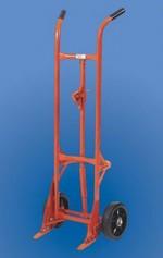Self-Standing Drum Truck - Steel Wheels