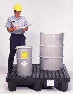 Ultra-Spill Pallet - Economy 4 Drum Model