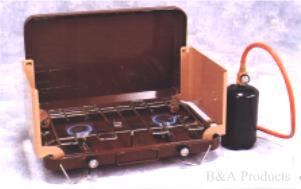 Deluxe Two-Burner Regulated Propane Stove