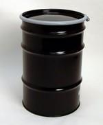 30 Gallon Open-Head UN-Rated Steel Drum - Black - Rust Inhibitor Interior