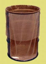 15 Gallon Round Bottom Flexible Liner - Fold-Back - 5 mil