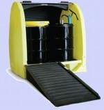 Enpac Roll Top 4 Drum Outdoor Spill Containment Pallet With Drain