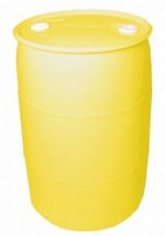 30 Gallon Closed-Head Plastic Drum - Yellow