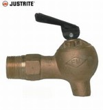 JUSTRITE Flow Control 3/4 Inch Brass Safety Faucet