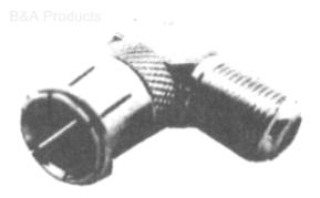 F Right Angle (FM) Connector, Push-On