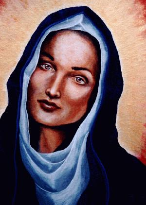 Painting of Mother Mary by Matthew Paul