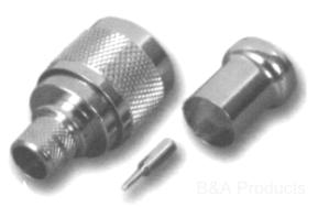 N Male Crimp Type Connector
