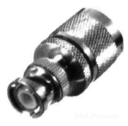 N Male to BNC Male Adapter