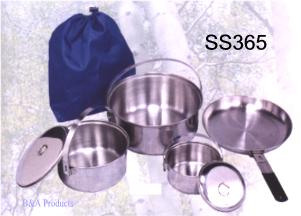 Stansport 365 Stainless Steel Family Cook Set